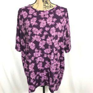 LuLaRoe Irma Purple Floral Print568096